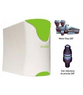 Kit compacto Phoenix Osmosis domestica (con BOMBA) + reductora presion + antifugas