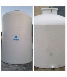 Depósitos agua potable vertical fondo plano 5.000 litros