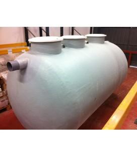 Fosa septica con Filtro biológico 5.000Lts - 3 camaras. Fabricada en PRFV.