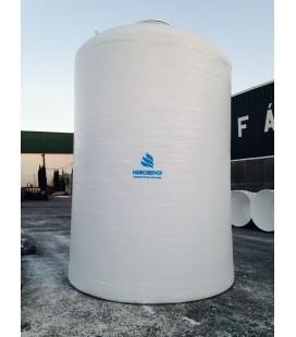 Depósito de agua vertical fondo plano 40.000 litros