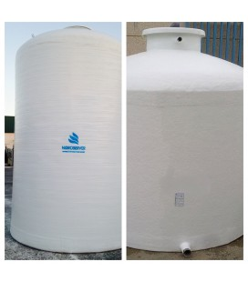 Depósito de agua vertical fondo plano 18.000 litros