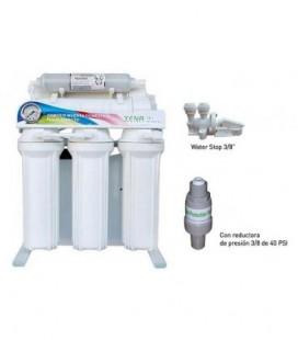 Ósmosis domestica de Flujo directo XENA 10.1. con bomba. Produccion 50-60 Lts/h