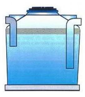 Separadores de grasas para agua residual 500 litros
