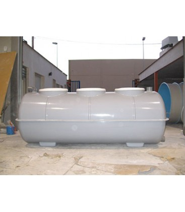 Fosa septica con Filtro biológico 2.200Lts - 3 camaras. Fabricada en PRFV.