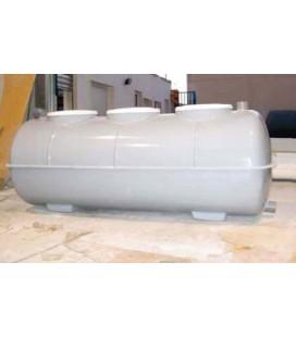 Fosa septica con Filtro biológico 3.000Lts - 3 camaras. Fabricada en PRFV.