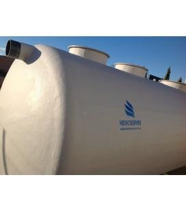 Fosa septica con Filtro biológico 10.000Lts - 3 camaras. Fabricada en PRFV.