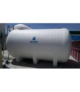 Depósito para agua horizontal con cunas 12.000 litros