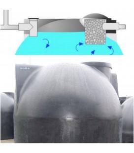 Fosa séptica polietileno PE8000 litros-42 habitantes - TRANSPORTE INCLUIDO